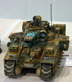 Scratch-built alt-Leman Russ in the style of the Baneblade.  Warhammer 40k.