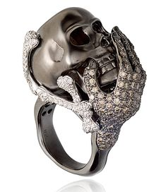 Diamond Skull head ring