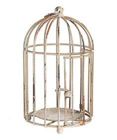 Look what I found on #zulily! Rustic Cream Birdcage Décor #zulilyfinds