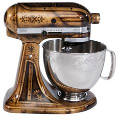 Who wouldn't want a custom painted #KitchenAid! #steampunk #appliances