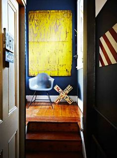 ♂ Bold Interior design yellow with blue