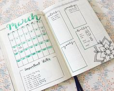 Image result for march bullet journal ideas