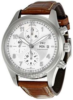 IWC Spitfire Pilot Chronograph Automatic Steel Brown Mens Watch IW371702 $4,678.47