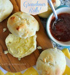 Craft-O-Maniac: Grandma's Homemade Rolls