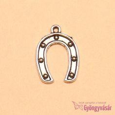 Ezüstszínű szerencsepatkó - fém fityegő Rings, Ring