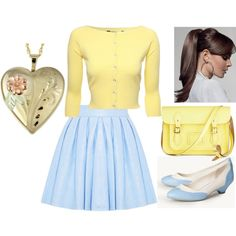 Pale Yellow by frenchviolet on Polyvore