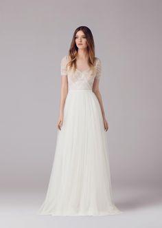Ana kara suknia ślubna tiulowa boho