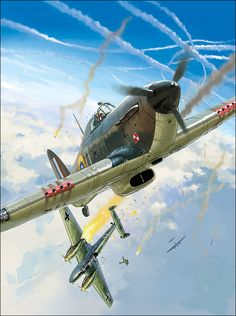 Hawker Hurricane Mk I vs Messerschmitt Bf 110, by Lucio Perinotto