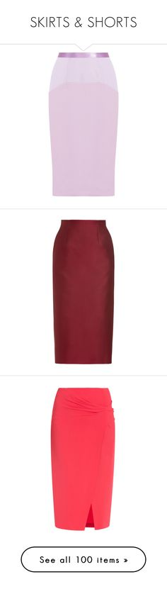 """""""SKIRTS & SHORTS"""" by saltless ❤ liked on Polyvore featuring skirts, prabal gurung, pink pencil skirt, knee length pencil skirt, pink skirt, pencil skirt, bottoms, юбки, burgundy and straight skirts"""