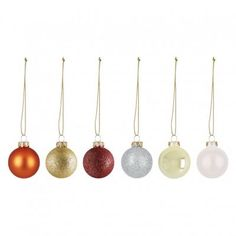 Add sparkle to your Christmas tree with the Anngarsk set of 40 multi-coloured glitter baubles. Buy now at Habitat UK. Christmas Stairs, All Things Christmas, Christmas Wreaths, Christmas Tree, Uk Homes, Christmas Table Decorations, Habitats, Sparkle, Glitter