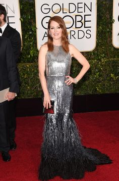 Julianne Moore at the 2015 Golden Globes. Photo: Getty Images.