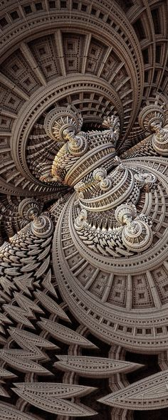 Fractal art as inspiration for Zentangle.  Pysanky egg designs are another great inspiration.