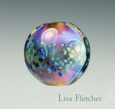 Lisa Fletcher bead made using BellaDonna Moody Blue frit. :-) just. Fabulous!