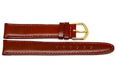 9d5aa56e846 18mm Brown Stitched Padded Distressed Leather Watch Band Fits Swiss Army  Wenger