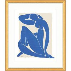 "Henri Matisse ""Blue Nude II"" Framed Cut-Out Print"