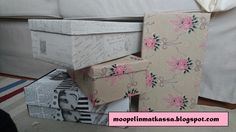 Shoebox here, shoebox there Reuse Recycle, Recycling, Shoebox Diy, Pink Beige, Shoe Box, Gift Wrapping, Decorating, Wallpaper, Store