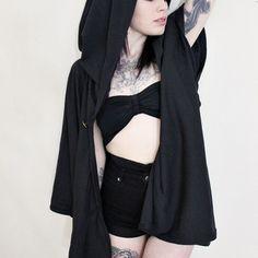 Black Hooded Cloak https://asmassachusetts.storenvy.com