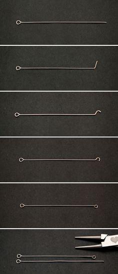 Manipuler un clou à boucles / Breloque & Pendentif