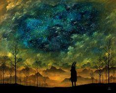 Gazing at the stars...