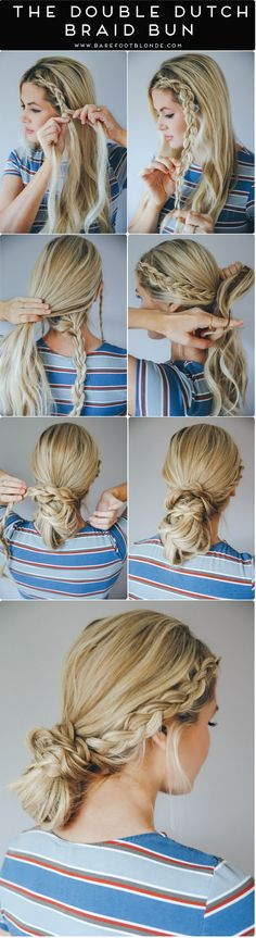 Double Dutch Braid Bun How To is the perfect look for a fuss-free summer hairstyle!