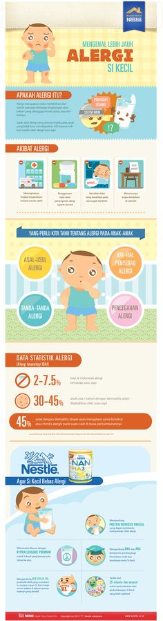 Allergy in Children Infographic for Nestle Indonesia on Behance by Yorris Handoko, Jakarta, Indonesia