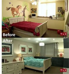 What do you think of the Duggar girls' new room? It had been bright yellow since the family built their house more than eight years ago. Duggar Family Blog, Duggar Girls, Dugger Family, Bates Family, 19 Kids And Counting, Celebrity Houses, Celebrity News, Beautiful Family, Girls Bedroom