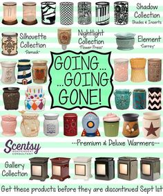 You have until the end of August to order these awesome warmers.... and you get them for 10% off!!! ORDER ONLINE ~ SHIPS DIRECT!!! https://spollreisz.scentsy.us