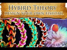 Hybrid Theory - How to Design Lesson 1 - Clown Fishtail, Tang Fishtail and ? Rainbow Loom Bracelet # video
