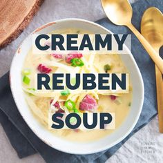 This simple stove top Reuben soup recipe will satisfy that corned beef craving in a creamy delicious way! Crockpot Cabbage Recipes, Slow Cooker Recipes, Soup Recipes, Recipies, Chili Recipes, Paleo Recipes, Corned Beef Stew, Corned Beef Recipes, Irish Soup