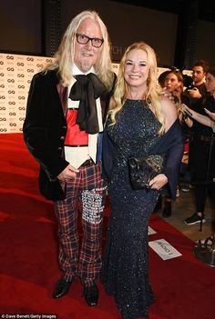 Billy Connolly, 73, dons tartan trousers at GQ Awards
