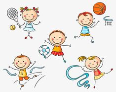Illustration about Kids engaged in different creative activities. Illustration of drawing, leisure, sketch - 44609592 Cartoon Kids, Cute Cartoon, Drawing Lessons For Kids, Kindergarten Art Projects, Cartoon Sketches, Stick Figures, Creative Activities, Step By Step Drawing, Preschool Crafts