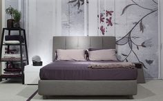 """""""Argan"""" Bed with removable cover. Also available as storage bed. Design by Flou. Various size and fabric options available. Flou SoHo at 42 Greene Street, NYC."""