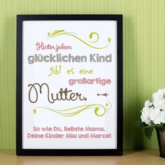 Holzbilderrahmen   für Mütter