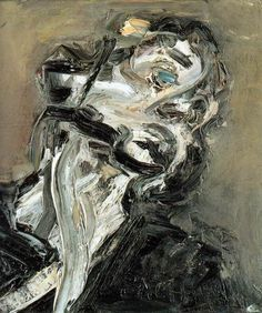 Frank Auerbach. His brushwork is unbelievable- able to describe so much of the face with one mark