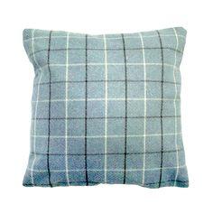 "Studio G Scandi Tree Chartreuse Duck Egg Blue Charcoal 16"" Cushion Cover Ochre"