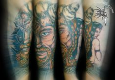 Tatuaje realizado en el antebrazo con temática vikinga, a color, en Tarántula Tattoo por la artista tatuadora Iciar Orozco, con tintas homologadas por Sanidad. #tattoo #tatuaje #ink #vikingo #guerrero #color #tarantulatattoo #tatuajesmalaga #costadelsoltatuaje #Málaga @iciarorozco