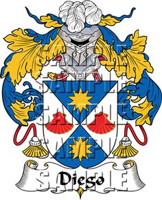 Diego Family Crest apparel, Diego Coat of Arms gifts