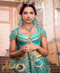 Princess Jasmine from Disney's live action movie, Aladdin Punk Disney, Walt Disney, Disney Fan Art, Disney Live, Disney Girls, Disney Princess, Aladdin Film, Watch Aladdin, Naomi Scott