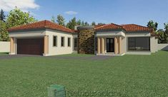 3 Bedroom House Plans South Africa | House Designs | NethouseplansNethouseplans House Plans For Sale, House Plans With Photos, Small House Plans, Three Bedroom House Plan, Bedroom House Plans, Double Storey House Plans, Tuscan House Plans, Built In Braai, House Plans South Africa