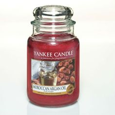 #MoroccanArganOil - Large Jar Candle - Yankee Candle. With hints of patchouli and sandalwood, the exotic aroma of rare argan oil creates a uniquely inviting ambiance. #YankeeCandleOfficial #GrandBazaar