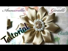 Tutorial Kanzashi con nastro di raso | Fabric flower tutorial