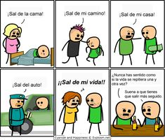 Cyanide and Happiness, a daily webcomic Funny Cartoons For Kids, Cartoon Kids, Funny Kids, Funny Cute, Retro Funny, Cartoon Jokes, Funny Jokes, Hilarious, Cyanide And Happiness Comics