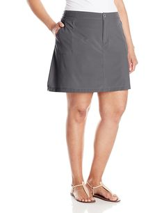 3027e8a2f4e51 Amazon.com  White Sierra West Loop Plus Size Trail Skort - Extended Sizes   Sports   Outdoors