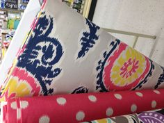 Ikat curtain fabric - baby girl Eastham