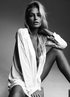 His white shirt #boudoir Lithuanian model Gintare Sudziute, photographed by David Beloniel for Treats