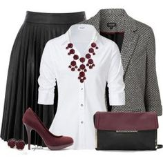 Work Outfit [Work Fashion, Business Attire, Professional Attire, find more women fashion ideas on www.misspool.com