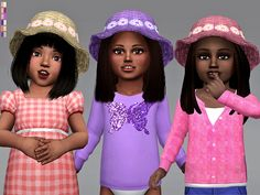 The Sims Resource: Toddler Wicker Flower Hat by Margeh-75 • Sims 4 Downloads
