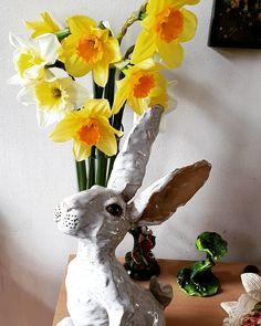 Daffodils, Vase, Spring, Instagram, Home Decor, Homemade Home Decor, Daffodil, Interior Design, Jars