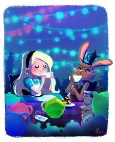 Super cute Alice in Wonderland #illustration #art by Italian artist Sara Mauri