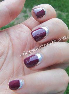 Zoya and OPI Ruffian Manicure Silver and Purple